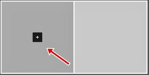Adicione sua foto através do botão de mais