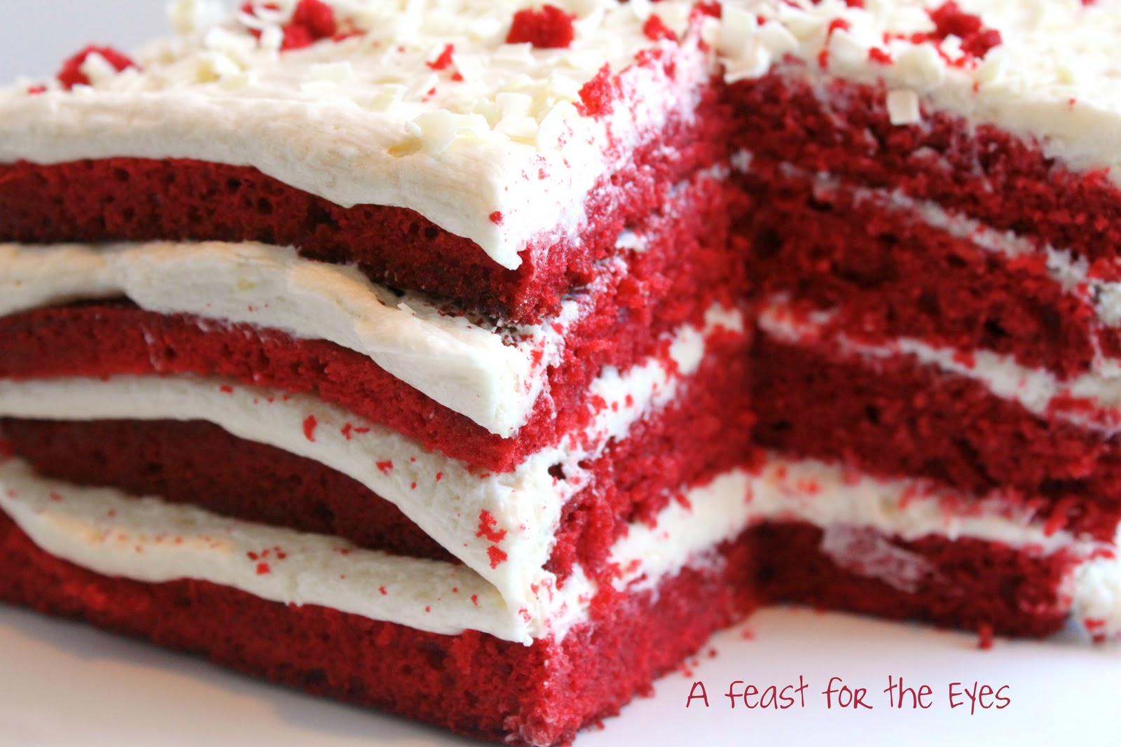 Cake Red Velvet White Chocolate : A Feast for the Eyes: Red Velvet Cake with White Chocolate ...