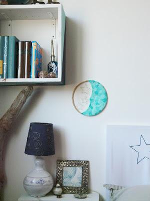 Décoration murale lune et étoiles - DIY