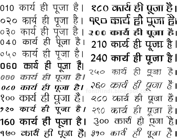 Hindi Kruti Fonts on old radio scripts free