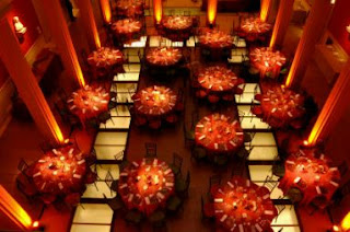 Wedding Decor, Salons Decorated in Red 2