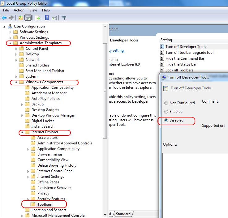 F12 Developer Tools Internet Explorer