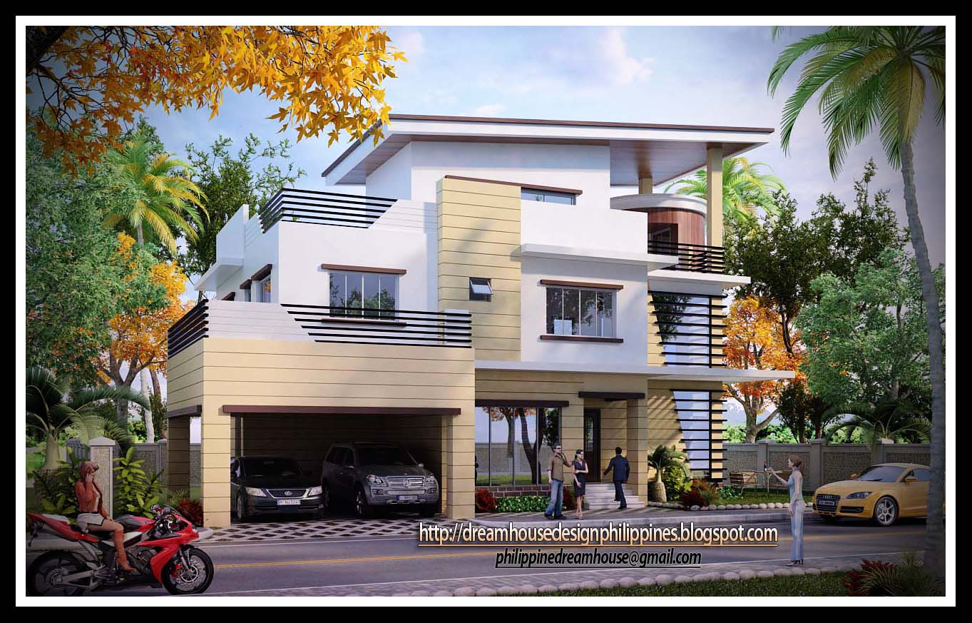 3 story apartment design philippines modern house for Home designs philippines