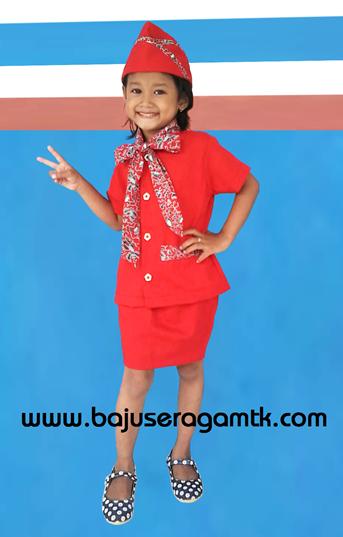 baju profesi anak baju pramugari anak