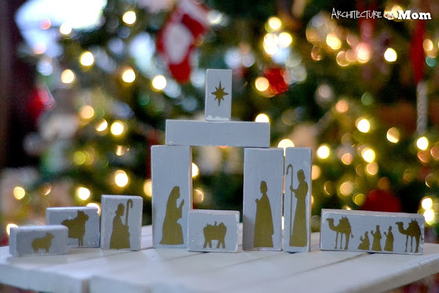 Rustic Wooden Children's Nativity Set {Architecture of a Mom}