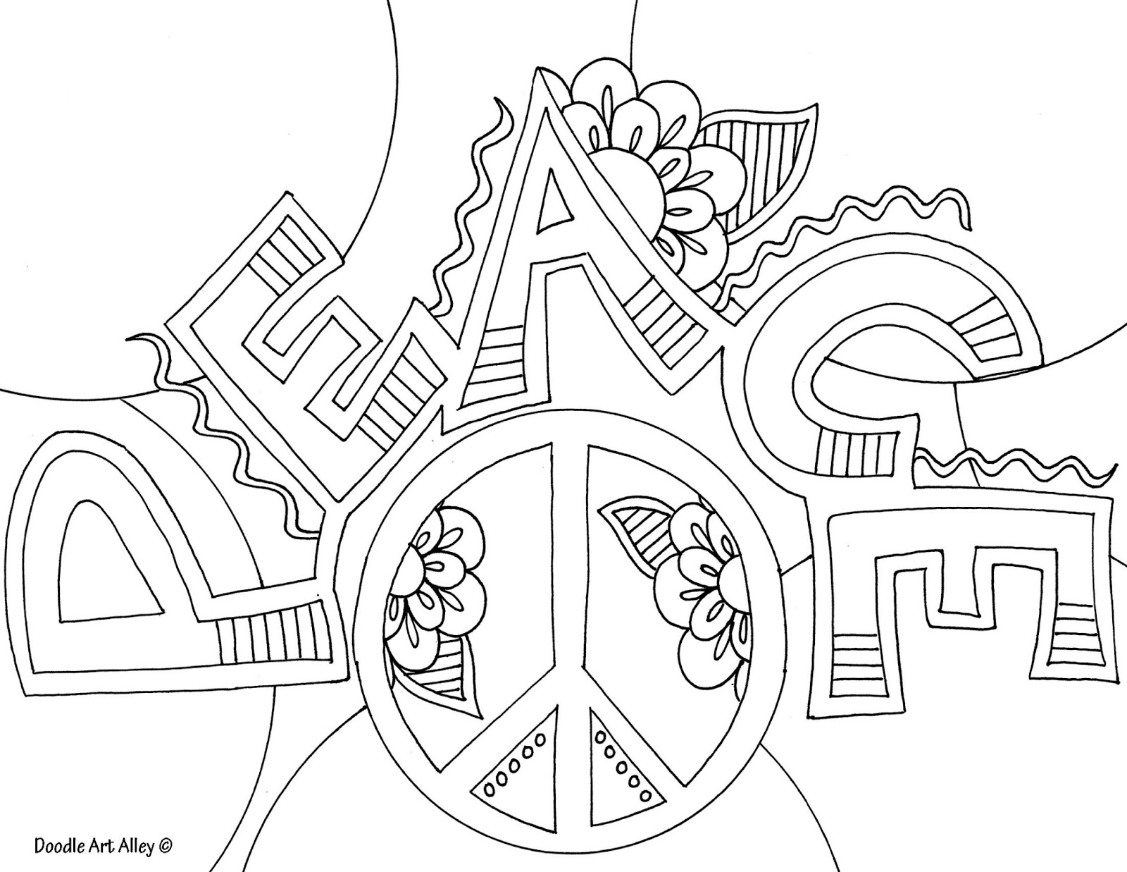 peace coloring pages - photo#30