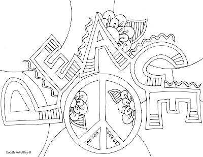 Adult Peace Coloring Page