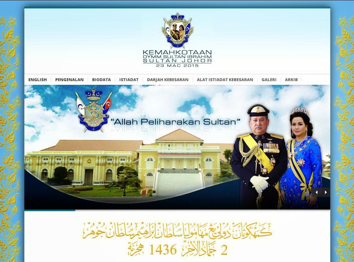 Laman Web Rasmi Kemahkotaan DYMM Sultan Ibrahim Sultan Johor