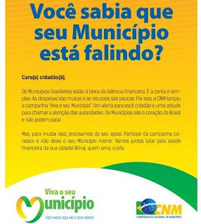 falência dos municípios brasileiros