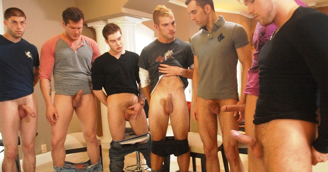 Big dick circle jerk