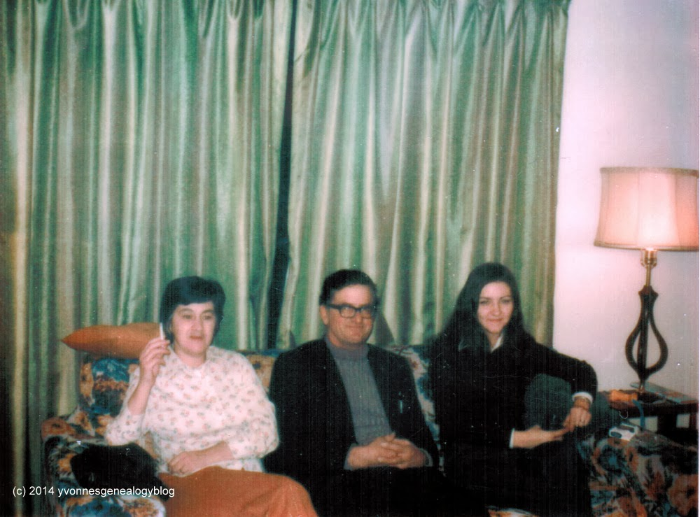 Lionel Gauthier with wife Rita and family friend Diane in 1973