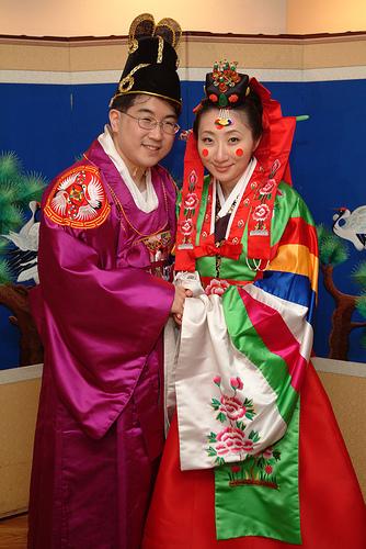 Hanbok, Colorful Korean Traditional Wedding Dress   Traditional ...