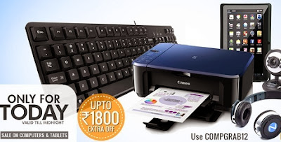 Flat 12% Extra Off on Computer & Accessories and  Tablets at HomeShop18
