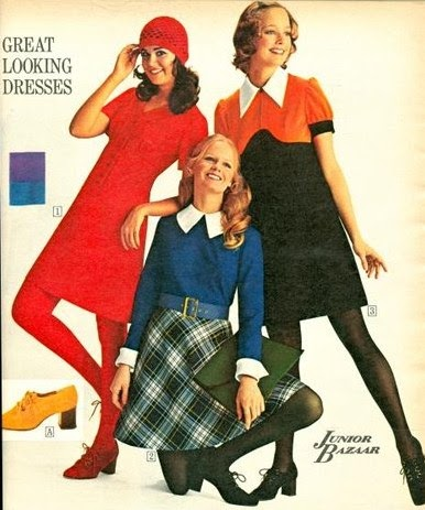 Sew Sixties: 60's/70's Fashion Inspiration: Oversized Collars