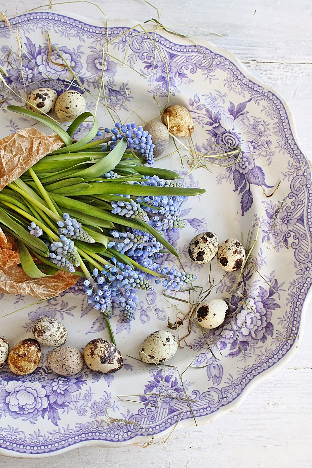 blomster til bordet blå
