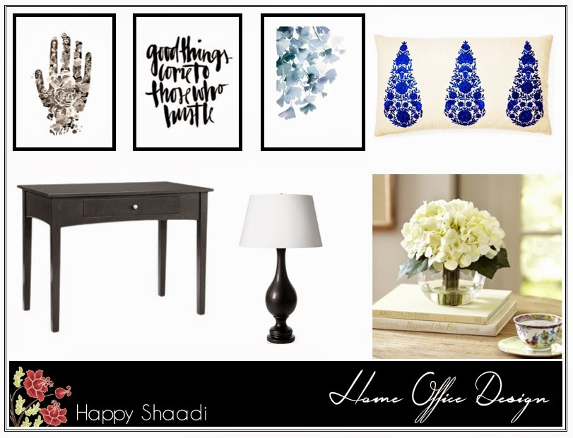 inspiration board, black and white, gallery wall, wall art, art prints, blogger workspace