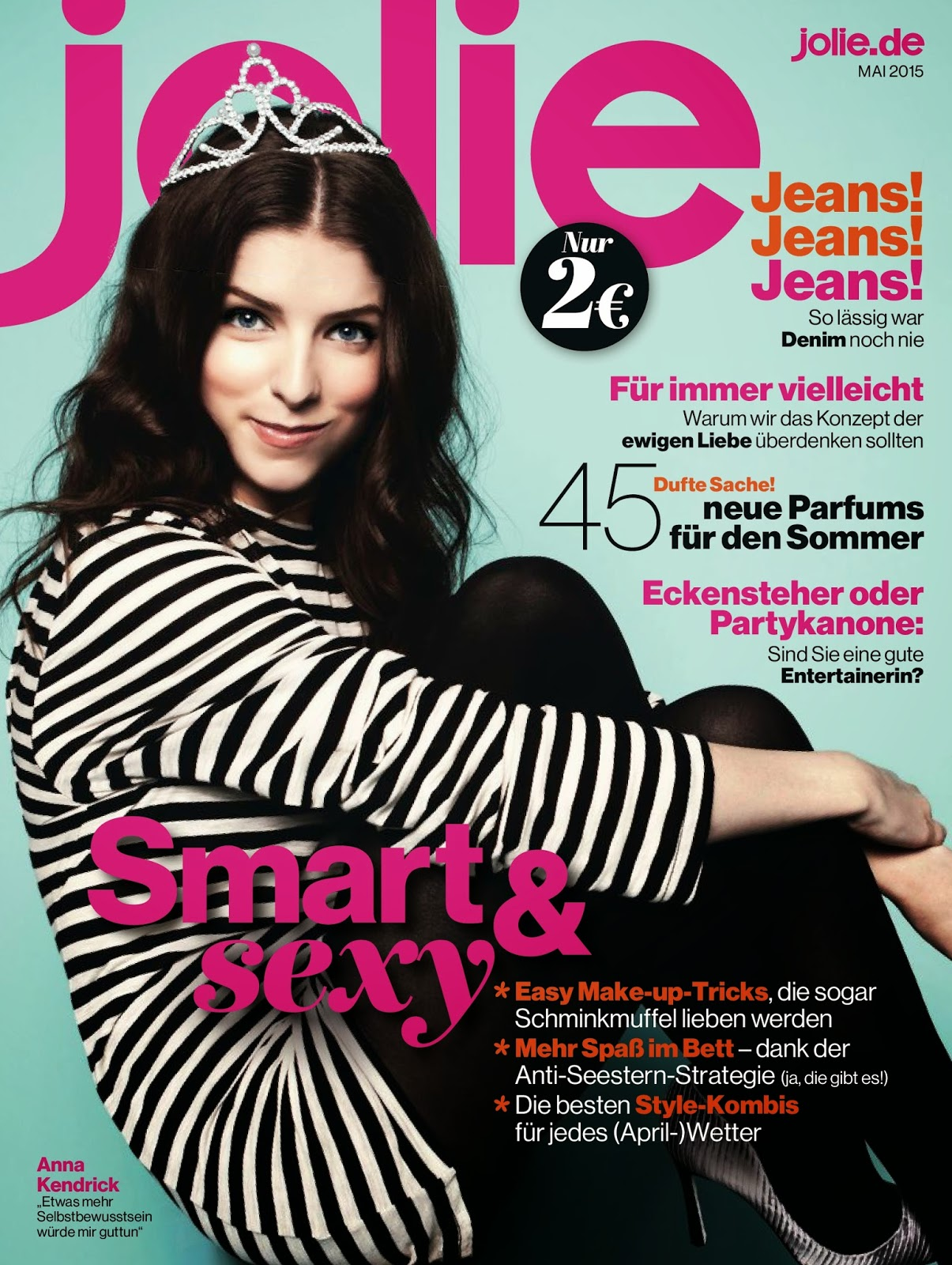 Actress @ Anna Kendrick - Jolie Magazine Germany, May 2015