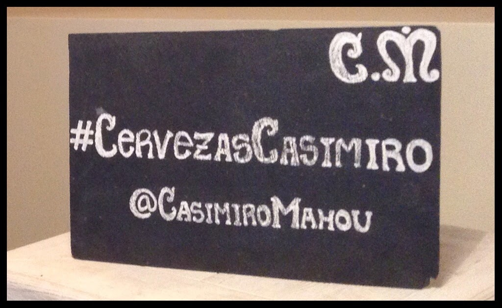 Casimiro Mahou !! Una cerveza muy de Madrid.