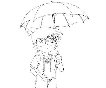 #2 Detective Conan Coloring Page
