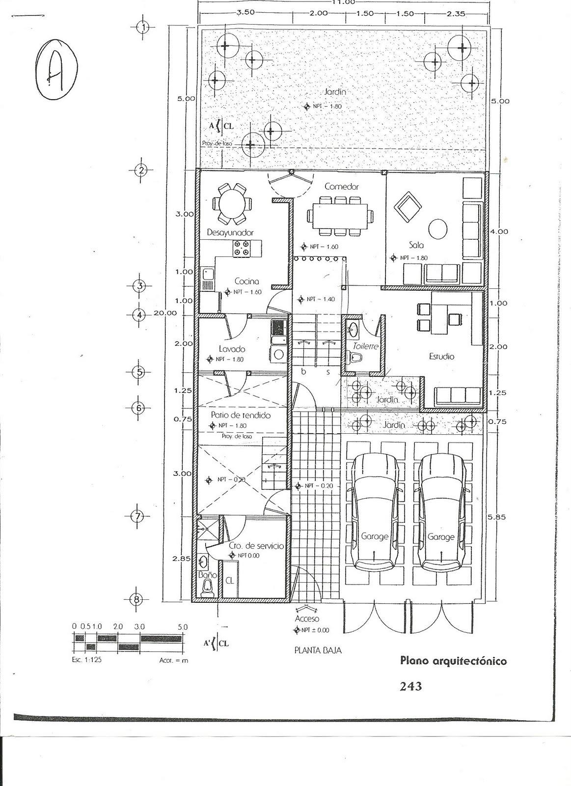 Dibujo de proyectos ejecutivos en la industria octubre for Que es un plano arquitectonico