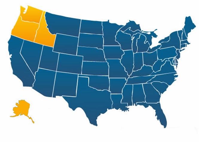 Careers In Healthcare Top  Nursing Programs In The Pacific - Map of northwest us