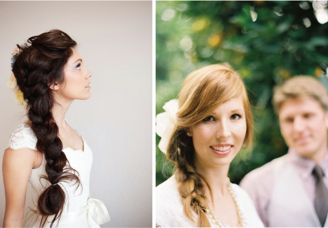 wedding hairstyles braid rustic