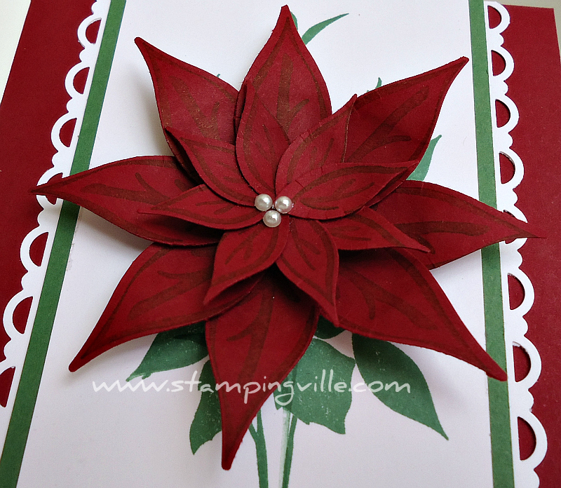 Poinsettia flower paper craft selol ink poinsettia flower paper craft mightylinksfo