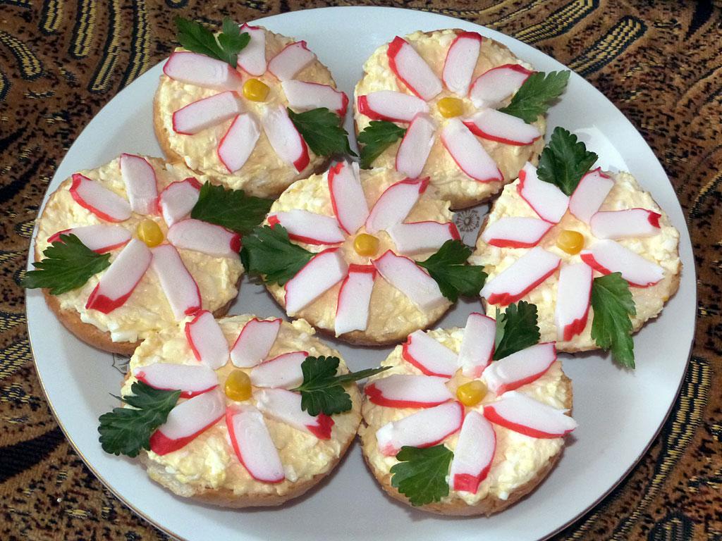 Рецепт бутерброды на праздник и рецептами