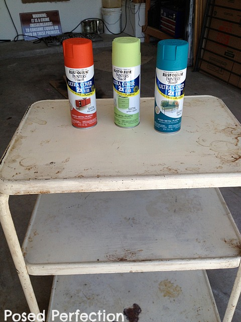 vintage cart paint choices
