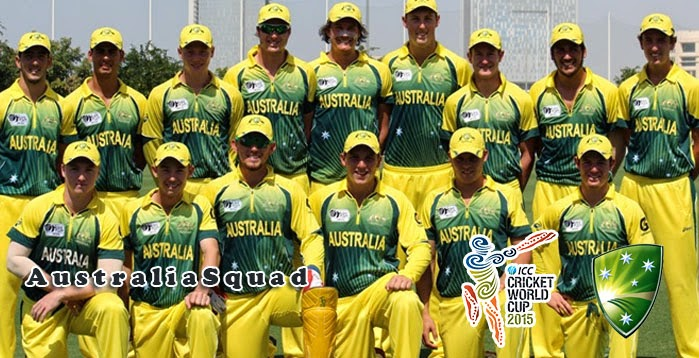 Australia Squad for ICC World Cup 2015 - Sports Competition April 2015