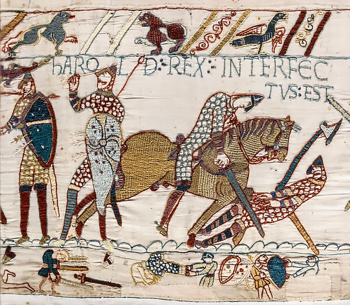 Scena mortii lui Harold tapiseria de la Bayeux