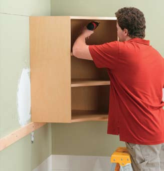 kitchen and bathroom renovation how to install wall cabinets 01