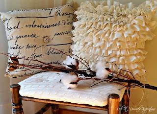 rag ruffle pillow cover diy tutorial