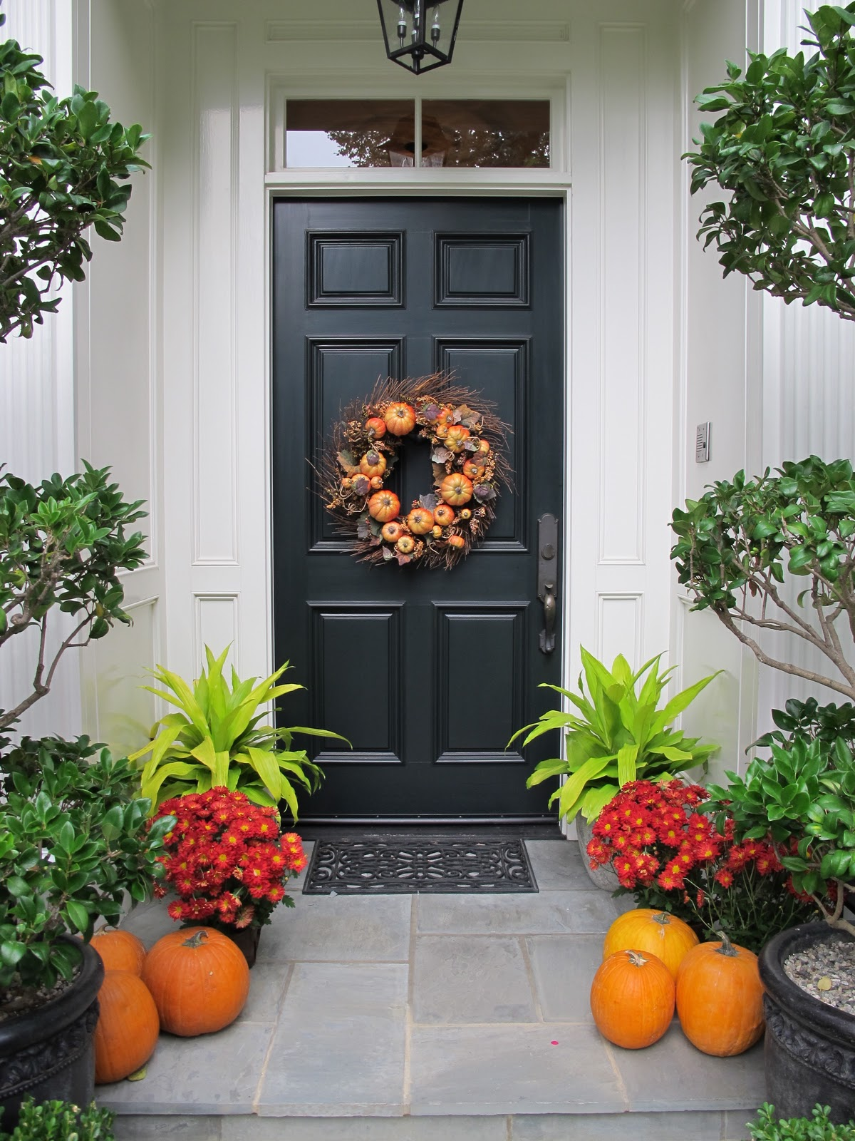 Ciao domenica welcome autumn - Front door thanksgiving decorating ideas ...