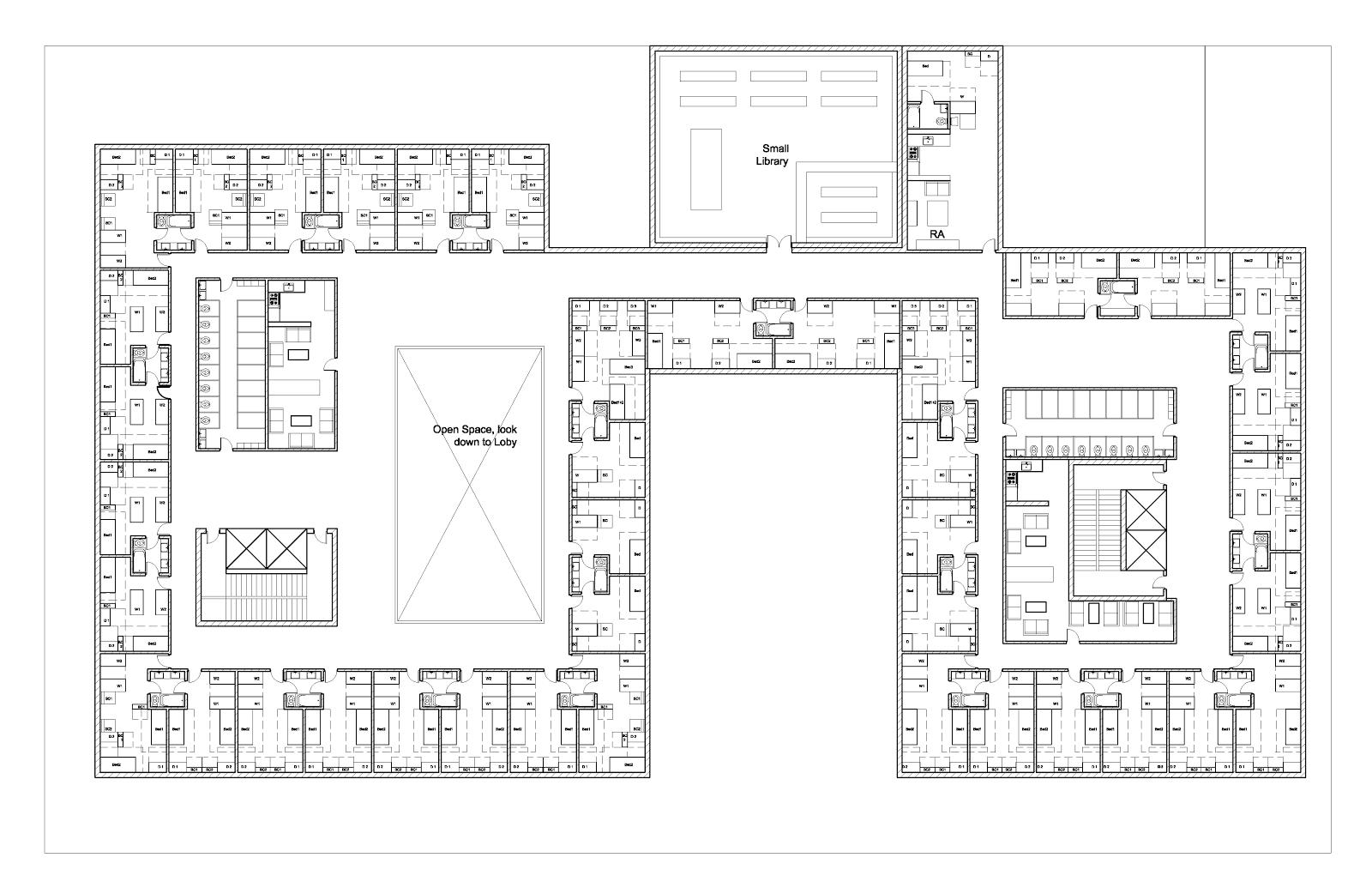 Arch3611f12trungnguyen floor plan continue for Floor layout planner