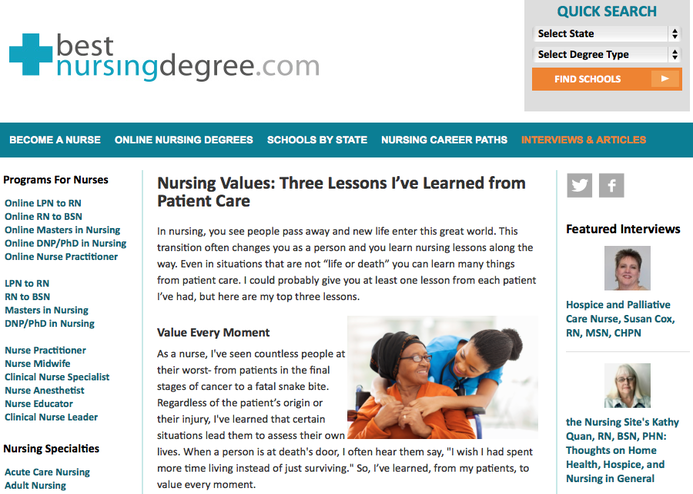 Nurse Nacole ◂ Nursing Resources: Written Articles