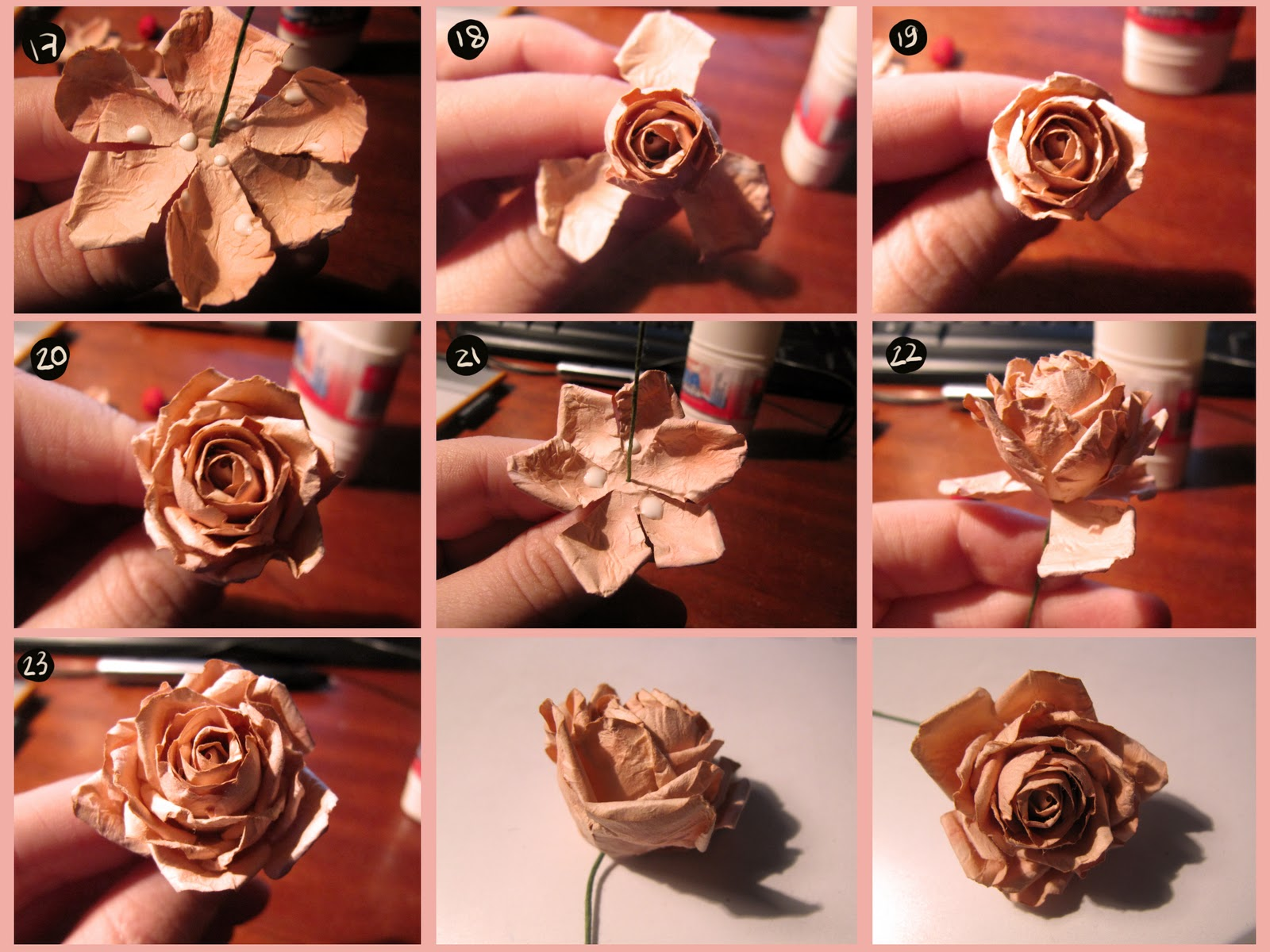 Как сделать розу из бумаги своими руками легче 908