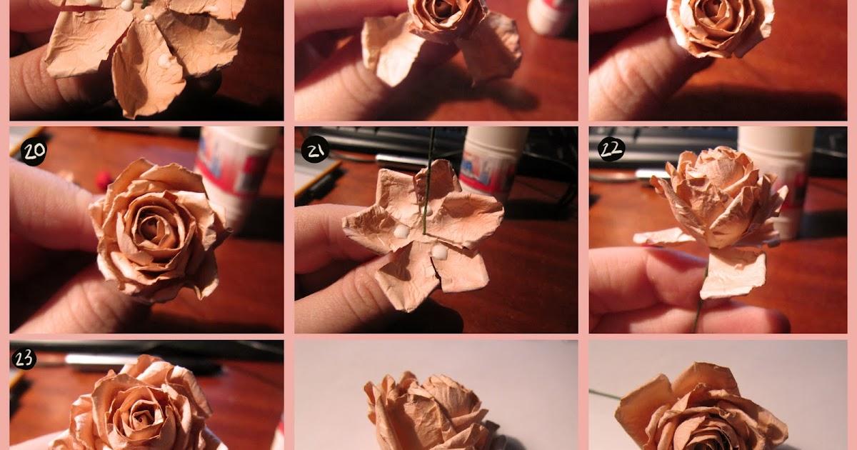 Как сделать роза из бумаги своими руками 63