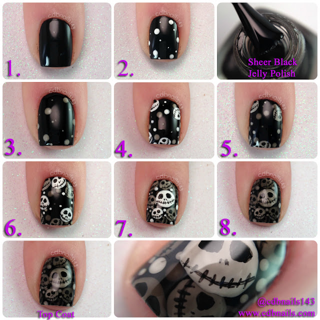 cdbnails-Nightmare Before Christmas Nails
