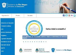 Nuevo dise o para el sitio web del ministerio de educaci n for Pagina web del ministerio