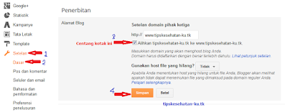 setting pengalihan custom domain