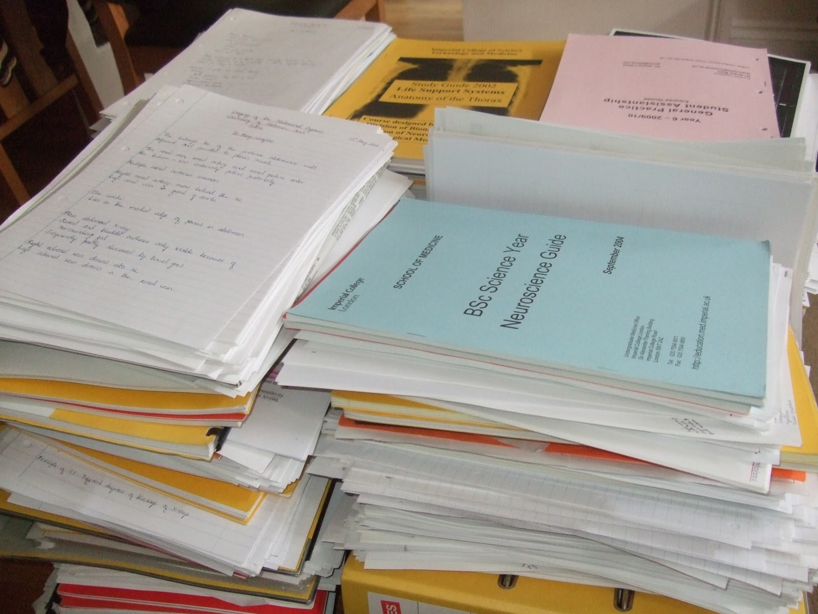Six Years Of Medical School Notes Time To Recycle