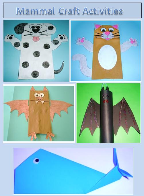 Learning Ideas - Grades K-8: Fun Mammal Craft Activities