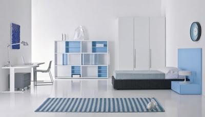 dormitorio minimalista adolescente