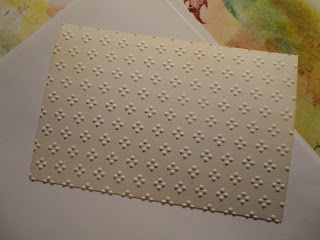 Panel embossed with dots