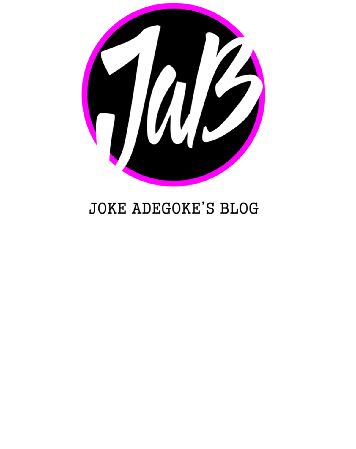 This is Joke Adegoke's Blog