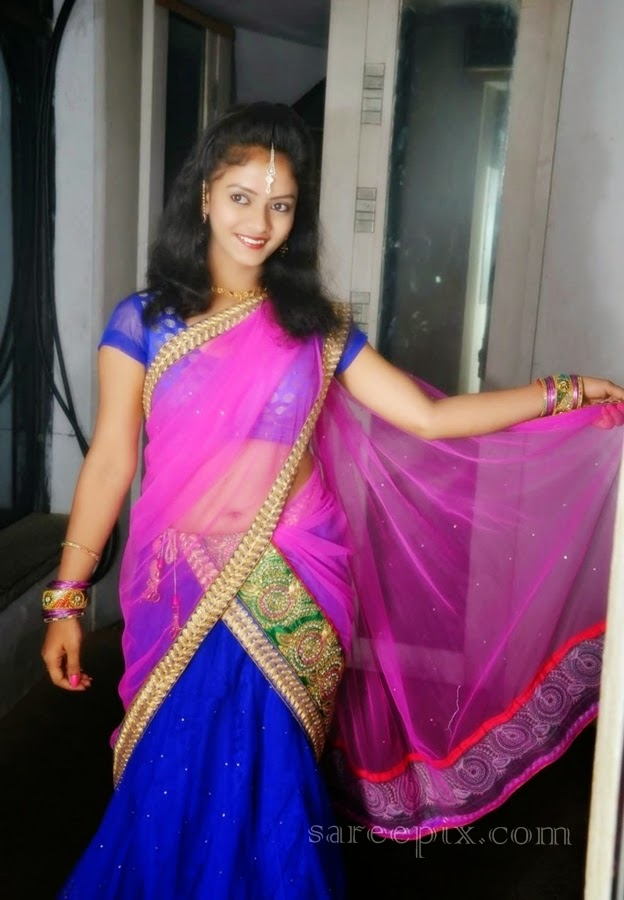 Actress-Jaya-harika-half-saree