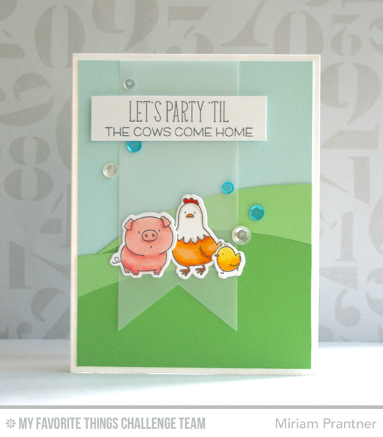 Til the Cows Come Home Card from Miriam Prantner featuring the Birdie Brown The Whole Herd stamp set and DIe-namics