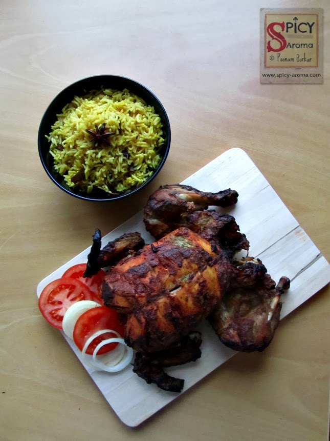 Roasted Chicken recipe, How to make Whole Roasted Tandoori Chicken ...
