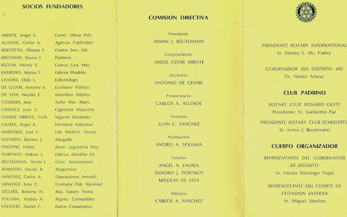 Recepción Carta Constitutiva 1982